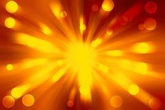 Abstracte illustratie van grote explosie Stock Foto