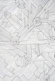Abstracte illustratie van parallelle, zwarte lijnen Royalty-vrije Stock Afbeeldingen