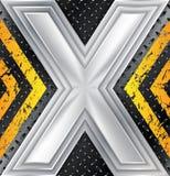 Abstracte industriële achtergrond met reusachtig X-teken stock illustratie