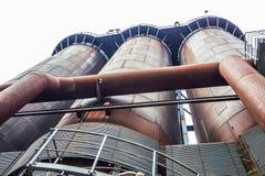 Abstracte industriële achtergrond met roestig staal Royalty-vrije Stock Fotografie