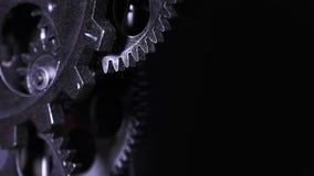 Abstracte Industriële Grunge Rusty Metallic Clock Gears stock video
