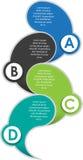 Abstracte infographic achtergrond met ABCD-stappen Stock Fotografie