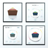 Abstracte infographic ontwerpreeks 4 in 1 Stock Foto