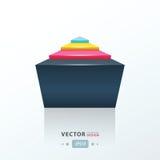 Abstracte infographic vector roze, blauw, geel Royalty-vrije Stock Afbeeldingen