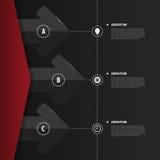 Abstracte Infographics Modern vectorontwerpmalplaatje Vector Stock Foto