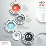 Abstracte infographics van de stroomgrafiek royalty-vrije illustratie