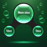 Abstracte infographics vectorillustratie Stock Afbeeldingen