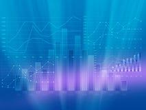 Abstracte infographicsgrafieken met de winstgroei stock illustratie