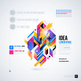 Abstracte infographicslay-out met glanzende geometrische elementen royalty-vrije illustratie
