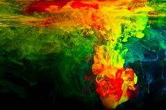 Abstracte inkt in water Royalty-vrije Stock Afbeeldingen