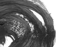 Abstracte inktachtergrond Marmeren stijl De zwart-witte textuur van de verfslag Macrobeeld van het spackling van deeg behang Royalty-vrije Stock Foto