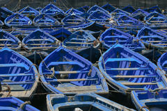 Abstracte Inzameling Als achtergrond:  Heldere Blauwe Boten Royalty-vrije Stock Foto's