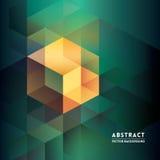 Abstracte Isometrische Vormachtergrond Royalty-vrije Stock Fotografie