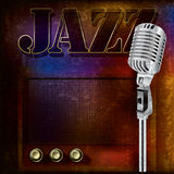 Abstracte jazzachtergrond royalty-vrije illustratie
