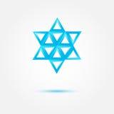 Abstracte Joodse ster - vectorsymbool stock illustratie