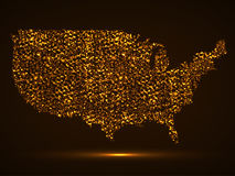 Abstracte kaart van de V.S. Stock Afbeeldingen