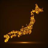 Abstracte kaart van Japan Stock Foto
