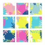 Abstracte Kaartmalplaatjes Stock Afbeeldingen