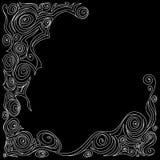 Abstracte kader elegante witte en zwarte krijtstrepen Stock Afbeeldingen