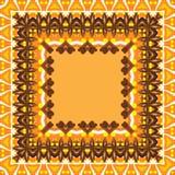 Abstracte kader, kaneel en sinaasappelen Royalty-vrije Stock Afbeelding