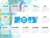 Abstracte Kalender van 2017 Royalty-vrije Stock Foto