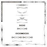 Abstracte kalligrafie stock illustratie