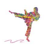 Abstracte karatemensen Royalty-vrije Stock Afbeeldingen