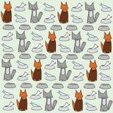 Abstracte kat en hondachtergrond Stock Afbeeldingen