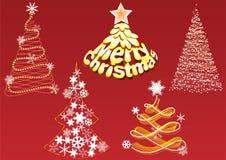 Abstracte Kerstbomen. Royalty-vrije Stock Afbeeldingen