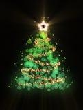 Abstracte Kerstboom Stock Foto