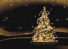 Abstracte Kerstboom Stock Foto's