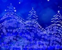 Abstracte Kerstboom met wat ruimte voor uw tekst Stock Foto's