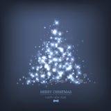 Abstracte Kerstboom van licht Stock Afbeeldingen