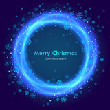 Abstracte Kerstmis blauwe achtergrond Stock Foto's