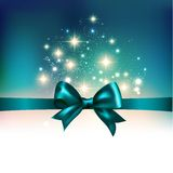 Abstracte Kerstmis lichte achtergrond met lint Stock Foto
