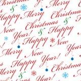 Abstracte Kerstmis naadloze achtergrond Stock Fotografie