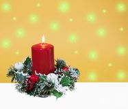 Abstracte Kerstmisachtergrond Stock Foto