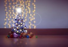 Abstracte Kerstmisachtergrond Stock Foto's