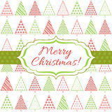 Abstracte Kerstmisachtergrond Stock Fotografie