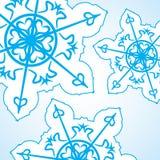 Abstracte Kerstmisachtergrond Blauwe sneeuwvlok op wit Stock Foto's