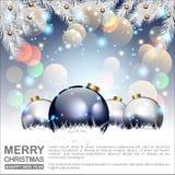 Abstracte Kerstmisachtergrond Het Concept van Kerstmisballen Vector en Illustratie, EPS 10 Royalty-vrije Stock Fotografie