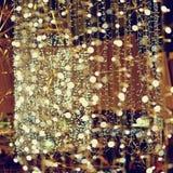 Abstracte Kerstmisachtergrond, Kerstmistextuur van kleurenlichten voor Kerstboom Stock Foto's