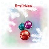 Abstracte Kerstmisachtergrond met decoratie Royalty-vrije Stock Fotografie