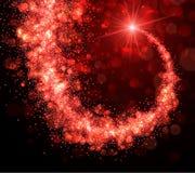 Abstracte Kerstmisachtergrond met rode werveling vector illustratie