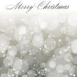Abstracte Kerstmisachtergrond met sneeuwvlokken. Stock Afbeeldingen