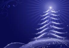Abstracte Kerstmisachtergrond met sneeuwvlokken Stock Afbeelding