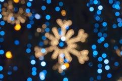 Abstracte Kerstmisachtergrond van Defocused Stock Foto