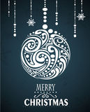 Abstracte Kerstmisbal Royalty-vrije Stock Fotografie