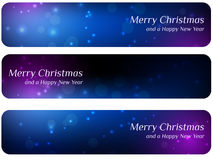 Abstracte Kerstmisbanners Stock Foto