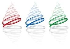 Abstracte Kerstmisbomen,   Stock Afbeelding